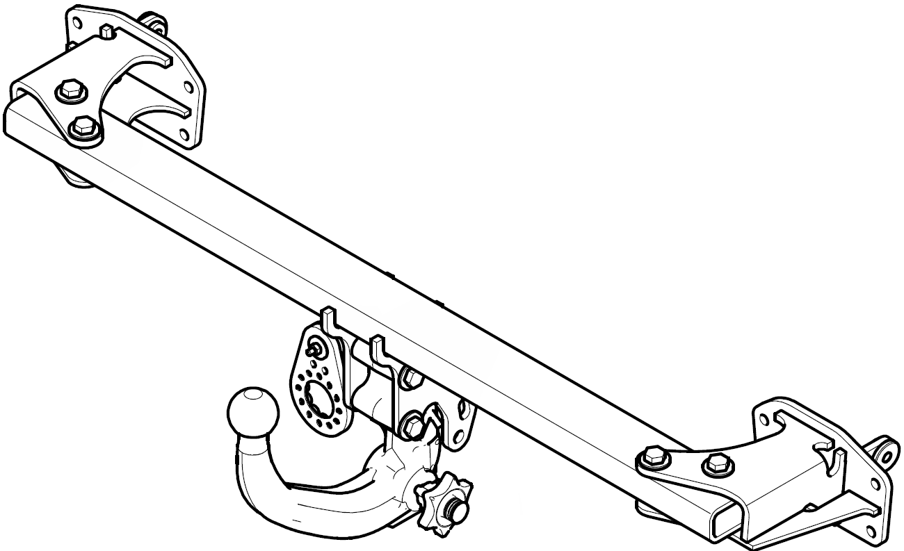 Mercedes B-Class W246 11- Gancio di traino estraibile