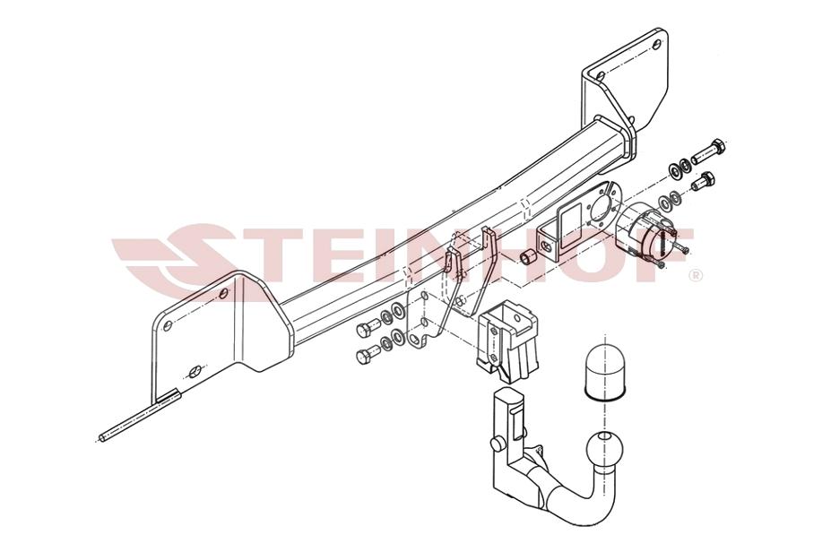 BMW X1 E84 09-15 (VERTIKAL) (NEU) Anhängerkupplung abnehmbar + 7p E ...
