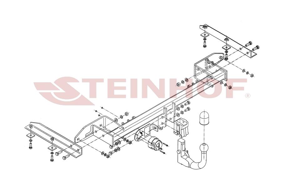 Opel Zafira C ab 2012 Anhängerkupplung abnehmbar vertikal mit 13pol ...