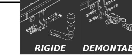 Attelage fixes rigide faisceau 13 broches pour FIAT DOBLO 2001-2009 223 Fourgon