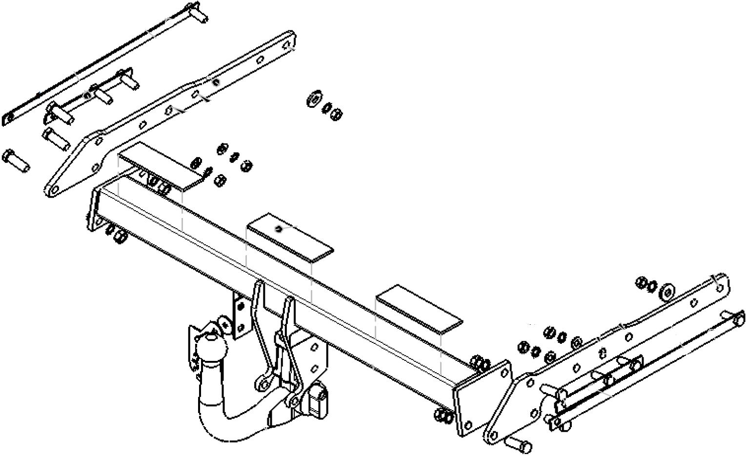 Detachable Swan Neck Towbar for Ford Galaxy II 2006-2015