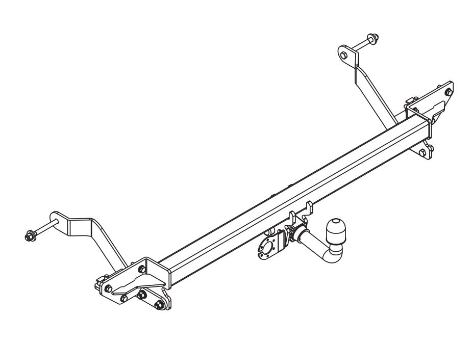 Anhängerkupplung für Fiat Ducato L1 L2 L3 Kasten und Bus