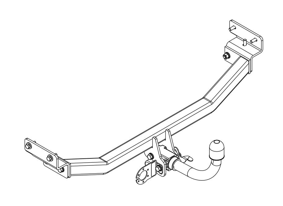 Anhängerkupplung abnehmbar für Hyundai i30 I Fließheck