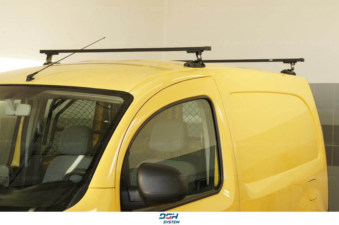 Dachträger Für Fiat Doblo II 10 mit Fixpunkten Stahl Schwarz 165cm